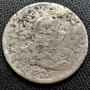 1805 DRAPED BUST QUARTER DOLLAR 25C  EARLY COIN CIRCULATED CORRODED 20749
