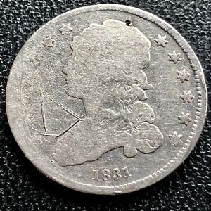 1831 CAPPED BUST QUARTER DOLLAR 25C  CIRCULATED 20753