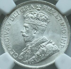 CANADA 1918 25 CENTS NGC MS63