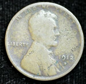 1912 D LINCOLN WHEAT CENT PENNY GOOD CONDITION  IN USA C4327