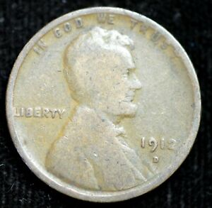 1912 D LINCOLN WHEAT CENT PENNY GOOD CONDITION  IN USA C4329