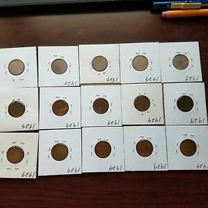 WHEAT PENNIES 1929. 15 COINS