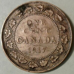 1917 CANADA ONE CENT COIN