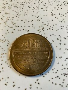 CENTURY 21 AMERICANS SPACE AGE WORLD FAIR SEATTLE 1962 ONE DOLLAR COIN
