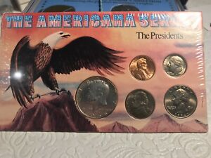 THE AMERICANA SERIES USA 5 PRESIDENTS COINS COLLECTION