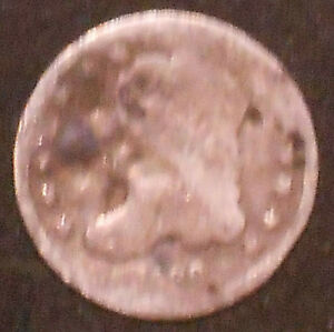 1836 P CAPPED BUST SILVER HALF DIME.