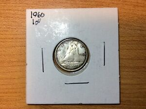 1960 UNCIRCULATED CANADIAN TEN CENT FROM THE TOREX AUCTION 2009