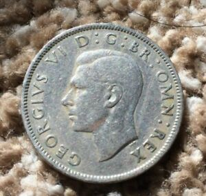 UK TWO SCHILLINGS COIN 1948 GEORGIVS