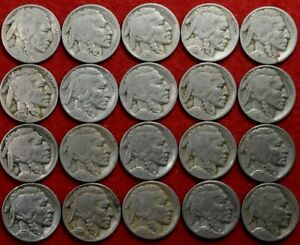 1913 1931 PDS 40 COIN BUFFALO NICKEL LOT FULL ROLL 20001913