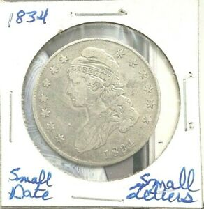 1834 CAPPED BUST HALF DOLLAR FROM MY OLD ALBUM COLLECTION OF OVER 40 YEARS