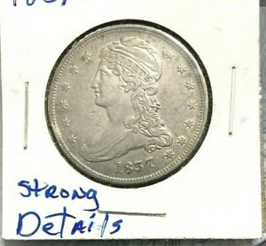 1837 CAPPED BUST HALF DOLLAR FROM MY OLD ALBUM COLLECTION OF OVER 40 YEARS