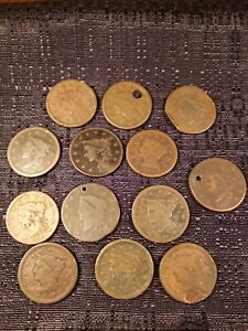 ONE LOW QUALITY LARGE CENT OLD US COINS