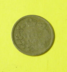 1893 CANADIAN SILVER 5CENTS G/VG   NICE COLLECTABLE GRADE