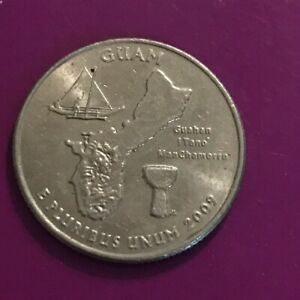 2009 D GUAM U.S. TERRITORIES QUARTER  50   OFF 10  COINS  1018