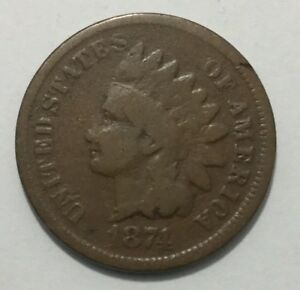 1874 INDIAN CENT   G