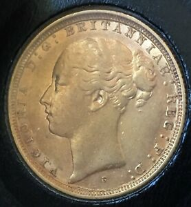 1885 S FULL SOVEREIGN GOLD COIN GREAT GIFT