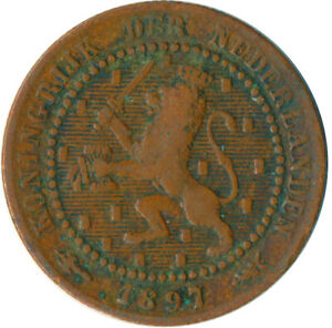 COIN / THE NETHERLANDS / 1 CENT 1897  WT5784