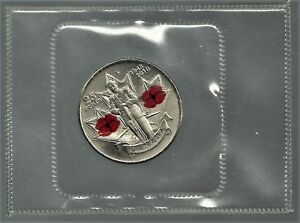 2010 25 CENTS POPPY UNCIRCULATED COIN. NOT SEALED SEAL IS BROKEN.