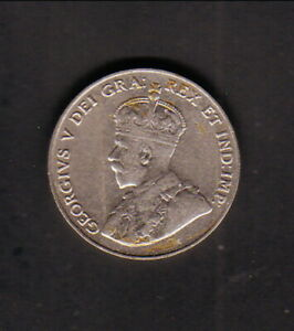 CANADA  1927  5 CENTS  KING GEORGE V/MAPLE LEAFS