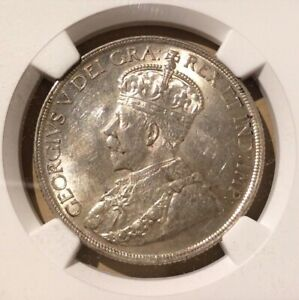 1936 CANADA ONE DOLLAR NGC MS 60   SILVER   TRENDS $60