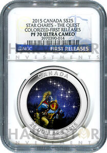 Click now to see the BUY IT NOW Price! 2015 CANADA SILVER STAR CHARTS THE QUEST   NGC PF70 FIRST RELEASES   NEW SERIES