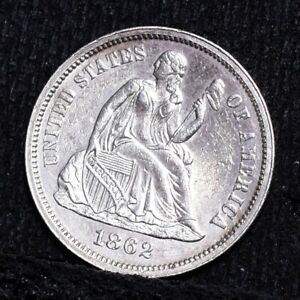 1862 LIBERTY SEATED DIME   PROOF UNC  26393