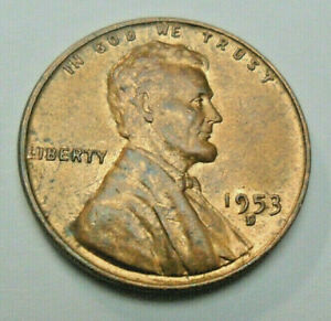 1953 D LINCOLN WHEAT CENT / PENNY   AU   ABOUT UNCIRCULATED