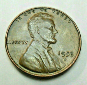 1953 D LINCOLN CENT / PENNY  BU / MS BR   MINT STATE BROWN