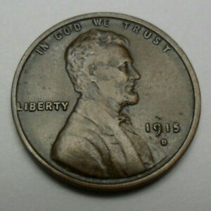 1915 D LINCOLN WHEAT CENT / PENNY    XF   LY FINE