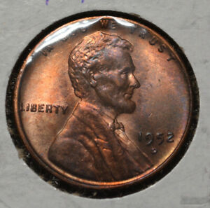 1952 D LINCOLN CENT   UNC WITH TONING   13
