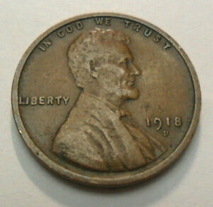 1918 D LINCOLN CENT / PENNY   XF   LY FINE