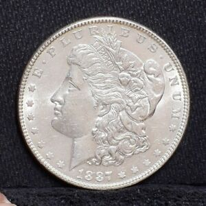 1887 MORGAN DOLLAR   UNC DETAILS  26791