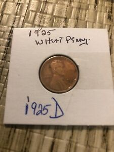 1925 D WHEAT PENNY IN GOOD CONDITION