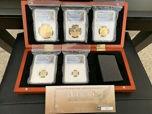 Click now to see the BUY IT NOW Price! 2016 ULTRA CAMEO GOLD MEXICO LIBERTAD 5 PIECE COIN SET NGC PROOF 70 WITH COA