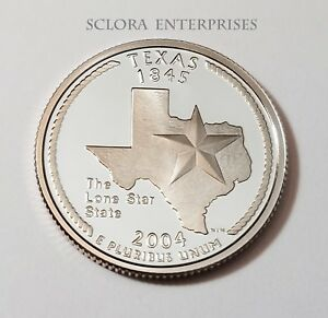 2004 S TEXAS   90  SILVER PROOF   STATE QUARTER