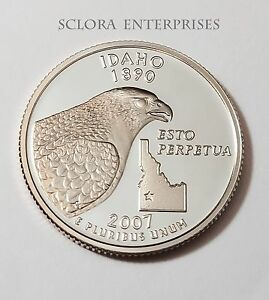 2007 S IDAHO  90  SILVER PROOF  STATE QUARTER