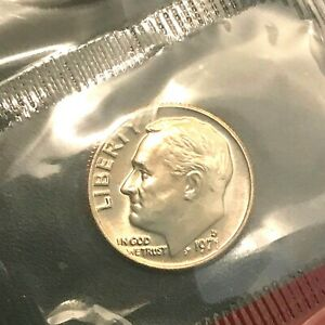 1971 D ROOSEVELT DIME GRADING CHOICE UNCIRCULATED  IN MINT CELLO
