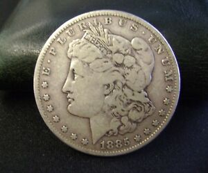 1885 MORGAN DOLLAR SILVER OLD US COIN