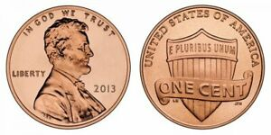 2013 P D S FROM MINT ROLLS & CAMEO LINCOLN CENT PROOF  3 COIN SET