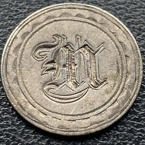 LOVE TOKEN  M  ON 1857 SEATED LIBERTY DIME 10C  23084