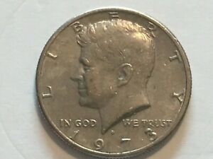 1973 D KENNEDY HALF DOLLAR OBVERSE PROFILE DOUBLING ERROR COIN