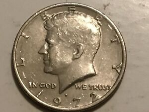 1972 D KENNEDY HALF DOLLAR ERROR COIN REVERSE DOUBLING DOLLAR AMERICA & WING