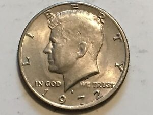 1972 D KENNEDY OBVERSE PROFILE DOUBLING ERROR EYE CHEEK AND LIPS
