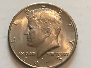 1973 D KENNEDY HALF DOLLAR ERROR COIN REVERSE DOUBLING IN DOLLAR OF AMERICA