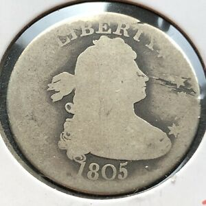 1805 DRAPED BUST QUARTER DOLLAR 25C CIRCULATED  EARLY TYPE COIN 4496