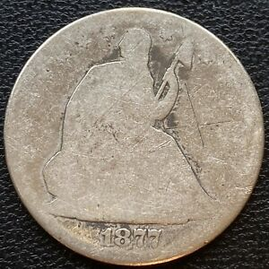 1877 SEATED LIBERTY HALF DOLLAR 50C CIRCULATED  23406
