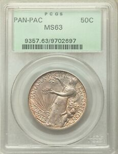 Click now to see the BUY IT NOW Price! 1915 S PANAMA PACIFIC EXPO PCGS MS63 OGH SILVER HALF DOLLAR COMMEMORATIVE COMMEM