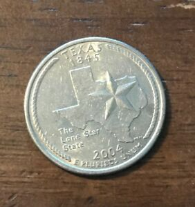 2004 D TEXAS 50 STATES QUARTER   1230  BUY 10 GET 50  OFF