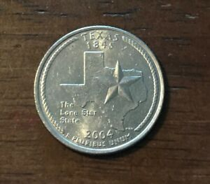 2004 D TEXAS 50 STATES QUARTER   1232  BUY 10 GET 50  OFF