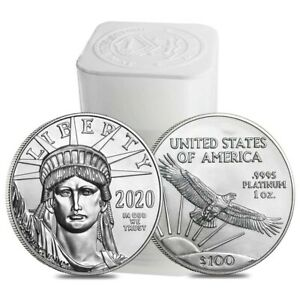 Click now to see the BUY IT NOW Price! ROLL OF 20   2020 1 OZ PLATINUM AMERICAN EAGLE $100 COIN BU  LOT TUBE OF 20